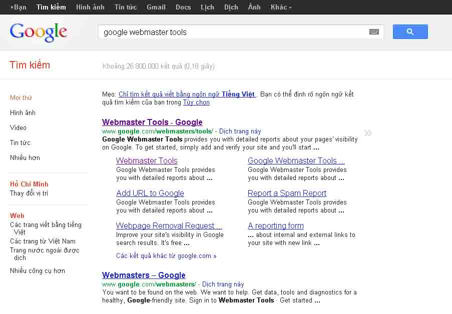 search-google-webmaster-tool