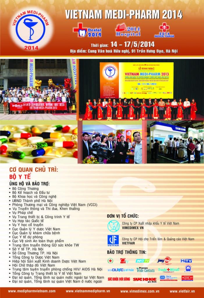 TRIỂN LÃM QUỐC TẾ CHUYÊN NGÀNH Y DƯỢC HÀ NỘI 2014 – 14-17/05/2014