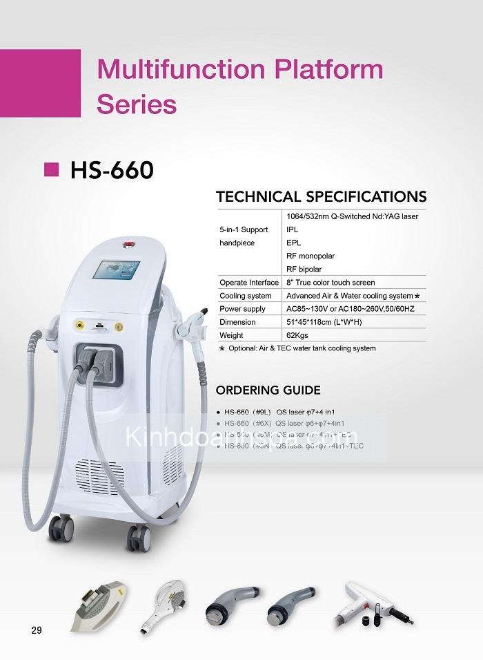 HS-660: Máy thẩm mỹ đa chức năng 2 tay cầm