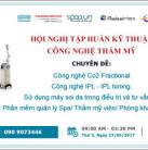 Hội nghị tập huấn kỹ thuật công nghệ thẩm mỹ 27-06-2017